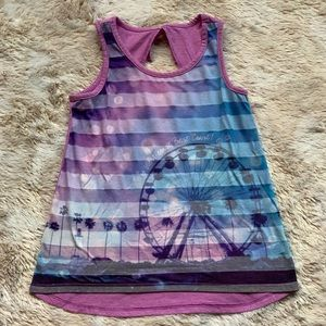 Justice Girls Size 10 Ferris Wheel Tank